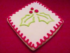Stencil decorated cookie