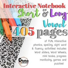 Phonics Bundle!  Long and Short Vowels Interactive NotebooksHave you been searching for that one amazing phonics product that will carry you through the year with a classroom full of diverse learners? Are you looking for that one phonics program that has built in parent communication?