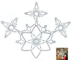 U Kathryn : Szydełkowe gwiazdki/Crochet snowflakes Crochet Snowflake Pattern, Crotchet Patterns, Crochet Stars, Crochet Snowflakes, Thread Crochet, Crochet Christmas Ornaments, Christmas Gift Decorations, Christmas Snowflakes, Christmas Crafts