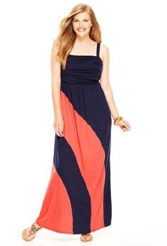 Avenue Plus Size Swirl Colorblock Maxi Dress, Coral Navy 18/20 Avenue,http://www.amazon.com/dp/B008GT2UIM/ref=cm_sw_r_pi_dp_11Lmrb0FVQCNHJHZ