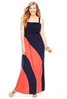 Avenue Plus Size Swirl Colorblock Maxi Dress, Coral Navy 18/20 Avenue,http://www.amazon.com/dp/B008GT2UIM/ref=cm_sw_r_pi_dp_11Lmrb0FVQCNHJHZ