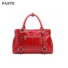 (110.49$)  Buy here  - PASTE Handbags Women Messenger Bags Genuine Leather Women Bag luxurious Handbags Famous Brand Fashion Casual Ladies Shoulder Bag