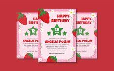 Garden Berry Birthday Invitation Corporate Identity, Birthday Invitations, Print Templates, Berry, Garden, Card Templates Printable, Garten, Lawn And Garden, Bury