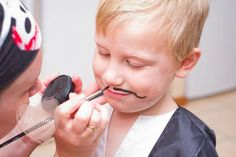 Pirate Themed Birthday Party - Kara's Party Ideas - The Place for All Things Party. Face paint moustaches or beards. Pirate Birthday, Pirate Theme, 2nd Birthday Parties, Birthday Ideas, Pirate Hats, Halloween Birthday, Pirate Face Paintings, Moustache Party, Mustache
