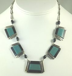 JAKOB BENGEL German ART DECO Galalith and Chrome Necklace, early 1930s