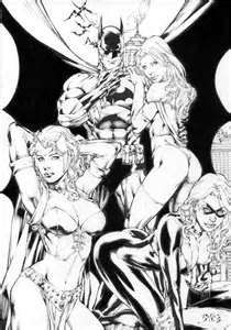 Image detail for -, White Queen, Scarlet Witch and Black Cat//Ed Benes/B/ Comic Art ...