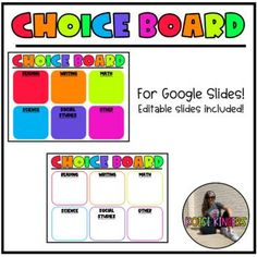 This product is for Google Slides. It is a choice board for students. You may use it however you see fit. There are also editable versions incase you would like to change the headings. Please don't forget to leave a review.
