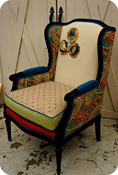 Jules... repurposed vintage chair