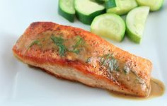Salmon with Dill Mustard Sauce (Low Carb and Gluten Free) | Living Low Carb One Day At A Time