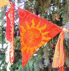 Pagan Flags Summer Solstice Litha Element of Fire