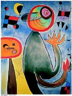 Animal Composition~  Joan Miro~  pintor, escultor, grabador y ceramista español, considerado uno de los máximos representantes del surrealismo.