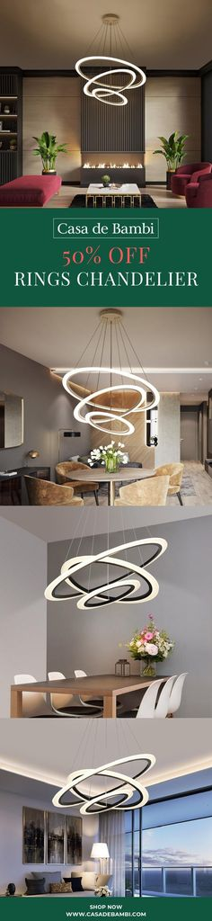 This fabulous, modern design circular ring chandelier is the perfect feature for any room in the house! Visit our Website and Get off! Free Worldwide Shipping & Money-Back Guarantee! Home Lighting Design, Luxury Lighting, Ceiling Design, Bambi, Ring Chandelier, Large Chandeliers, Scandinavian Living, Living Room Designs, Living Rooms
