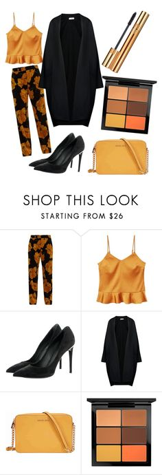 """OrangeDay"" by palsanchez ❤ liked on Polyvore featuring Gucci, MANGO, Louis Vuitton, Jil Sander, Michael Kors, MAC Cosmetics and Yves Saint Laurent"