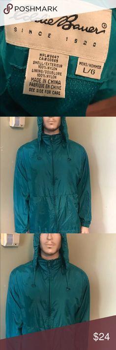 Eddie Bauer nylon hoodie jacket Eddie Bauer men's nylon hoodie full zip jacket windbreaker Eddie Bauer Shirts Sweatshirts & Hoodies