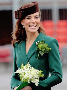 """""""""""The Duchess of Cambridge attends The 1st Battalion Irish Guards St. Patrick's Day Parade on March 17, 2012."""" """""""