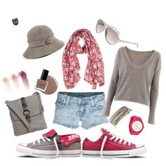Check out my Converse Contest submission!     Converse Switch-Pink/Grey Femme, created by bentleyhale.polyvore.com