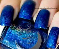 Celestial - Santas Blue Balls | See more at http://www.nailsss.com/...  | See more nail designs at http://www.nailsss.com/nail-styles-2014/