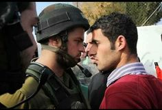The courage of a Palestinian ....