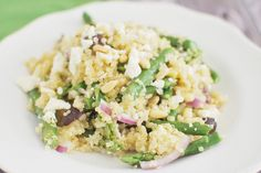 Quinoa Salad with Asparagus, Feta, and Pine Nuts - Fake Ginger
