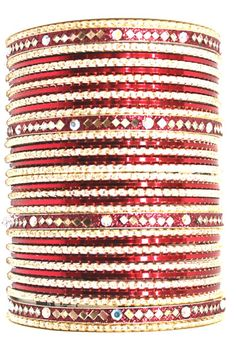 utopiajdesigns.com: Bangles Set Red [KP 1032]  [KP 1032]  $24.00