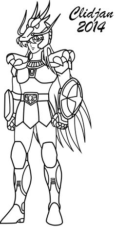 Ayoros coloriage les chevaliers du zodiaque sketches - Dessin chevalier du zodiaque a imprimer ...