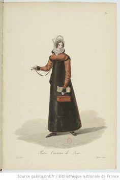 Ouvreuse de Loge from Georges-Jacques Gatine, Costumes d'ouvrières parisiennes, 1824, BNF Paris