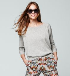 J.Crew: Collection pant in misty fog floral
