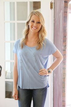 Ribbon Chix ZINACTIVE good hYOUman ~ Best Day Ever The Paige Tee