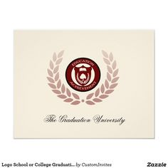 I like the traditional formal announcements. Logo School or College Graduation Announcements