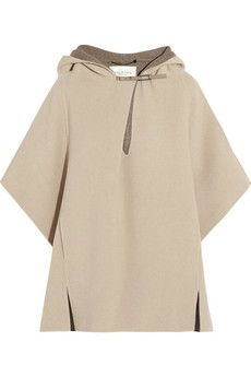 Halston Heritage Double-faced wool poncho | NET-A-PORTER
