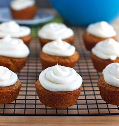 These carrot cake cupcakes are made from a small town blue ribbon recipe. Sweet, moist, dense, and perfect topped with cream cheese frosting. Carrot Cake Cupcakes, Best Carrot Cake, Yummy Cupcakes, Cupcake Cakes, Carrot Cakes, Carrot Muffins, Poke Cakes, Apple Cake, Tea Cakes