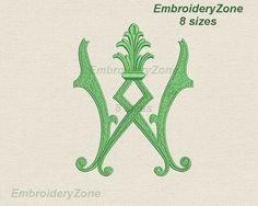 Antique monograms from old books W 1. Embroidery от EmbroideryZone