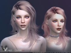 OS0910 hair by Wings Sims from TSR for The Sims 4