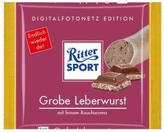 RITTER SPORT Fake Schokolade Grobe Leberwurst