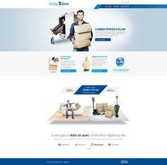 Criação do website Keep Box.