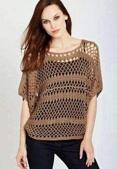 Crochet Shirt Items similar to Crochet top. Made to Order in any size and color with any modifcations. on Etsy - Mode Crochet, Cotton Crochet, Crochet Cardigan, Easy Crochet, Crochet Lace, Crochet Stitches, Crochet Patterns, Crochet Tops, Diy Mode