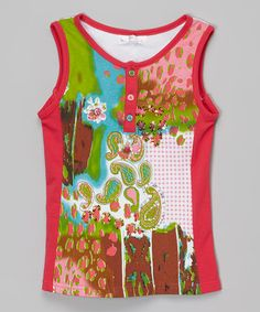 Look at this #zulilyfind! Pink Collage Tank - Toddler & Girls #zulilyfinds