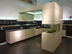 +ARTESIO Kitchen by Poggenpohl - Alabaster and Pine Terra finish - See this fabulous design and more at Poggenpohl's showroom in the Chicago Merchandise Mart.