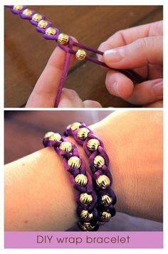Braided bead bracelet - Click image to find more DIY & Crafts Pinterest pins