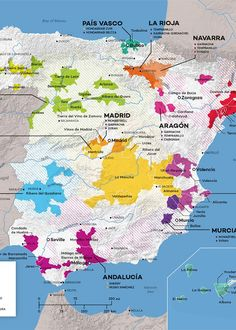 Get to know the wine regions of Spain with this full color wine map from Wine Folly: now available in PDF. Wine Infographic, Margaret River Wineries, Wine Folly, Spanish Wine, Wine Baskets, Wine Guide, In Vino Veritas, Italian Wine, Wine And Beer