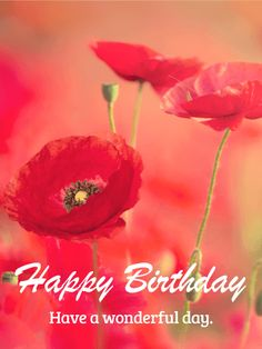 Send Free Beautiful Poppy Happy Birthday Card to Loved Ones on Birthday & Greeting Cards by Davia. It's 100% free, and you also can use your own customized birthday calendar and birthday reminders.