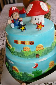Super baby mario cake!  I loved it, it was sooo perfect for his party!(:
