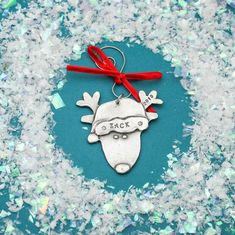 Reindeer Christmas Ornament Personalized Name Christmas   Etsy