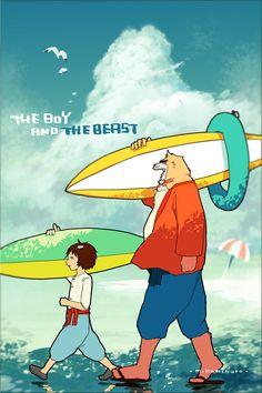 The Boy and the Beast #Kumatetsu #Kyuta (by 松村上久郎)