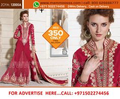 www.mammoosss.com (Original ZOYA BRANDED SUIT Heavy Embroidery work specially created / with stone work ) PRICE- AED 350/- OMR 43/- INR 6800 /- QAR 410/- FREE Delivery +cash on Delivery+24 HRS Delivery UAE , OMAN, QATAR AND ( INDIA 5 WORKING DAYS) How To Order or Buy ? Call : 800 MAMMOOSSS ( 800 626666777) - UAE TollFree Call : DUBAI STUDIO - 04 2635986 : whatsAPP -00971502274456 #Lehangas #sarees #mammoosss.com #indiandresses #ethnicwears #designercloths #ladieswear #dubai