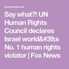 Say what?! UN Human Rights Council declares Israel world's No. 1 human rights violator | Fox News