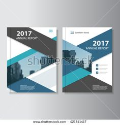 Blue black Vector annual report Leaflet Brochure Flyer template design, book cover layout design