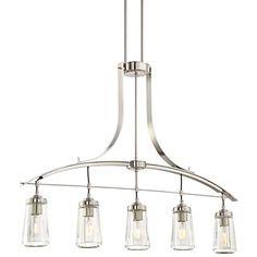 1282 best chandeliers images on pinterest chandeliers chandelier poleis 39w brushed nickel 5 light island chandelier aloadofball Images