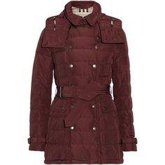 Burberry Brit Hooded quilted down coat