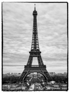 Photographic Print: Eiffel Tower, Paris, France - White Frame - Black and White Photography by Philippe Hugonnard : Black And White Tumblr, Paris Black And White, Black And White Picture Wall, Black And White Portraits, Black And White Pictures, Black And White Photography, Eiffel Tower Photography, Paris Photography, Vintage Photography